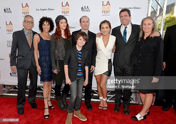Artistic director David Ansen, Los Angeles Film Festival director Stephanie Allain, actress Nicole Fox, actor Max Charles, filmmaker Tom Hammock,...