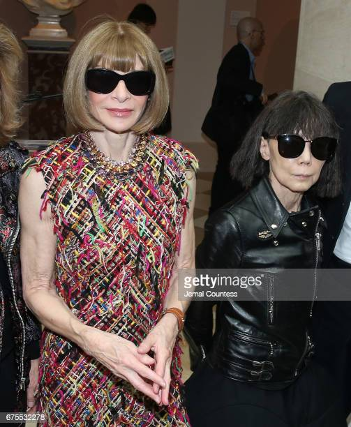 Artistic Director for Cond Nast Anna Wintour and designer Rei Kawakubo attend the 'Rei Kawakubo/Comme des Garcons Art Of The InBetween' Costume...
