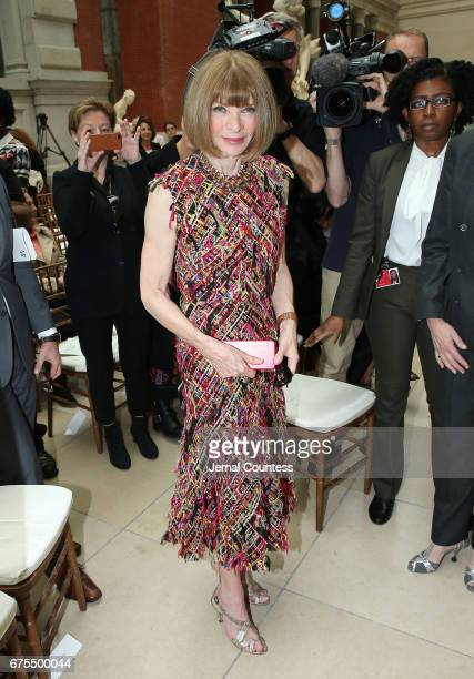 Artistic Director for Conde Nast Anna Wintour attends the 'Rei Kawakubo/Comme des Garcons Art Of The InBetween' Costume Institute Gala Press Preview...