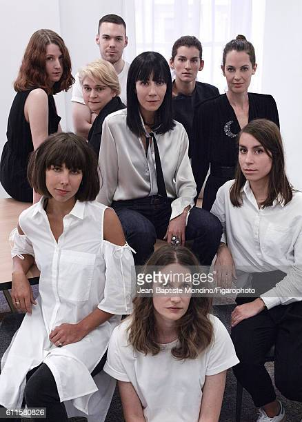 Artistic director for Lanvin, Bouchra Jarrar and her team are photographed for Madame Figaro on September 6, 2016 in Paris, France. PUBLISHED IMAGE....
