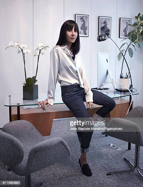 Artistic director for Lanvin Bouchra Jarrar is photographed for Madame Figaro on September 6 2016 in Paris France PUBLISHED IMAGE CREDIT MUST READ...
