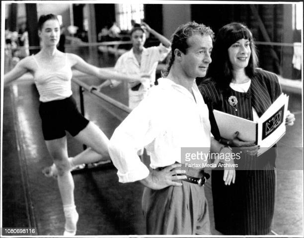 Artistic Director Graeme Murphy with General Manager Lynn Ralph at this morning dace routine at studio in background dancers Louise Deleur of Cynthia...