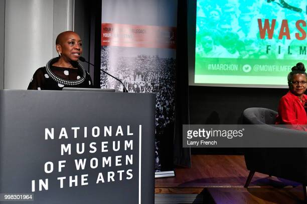Artistic Director Isisara Bey appears at In Her Footsteps The Legacy of Madam CJ Walker at the March On Washington Film Festival on July 13 2018 in...