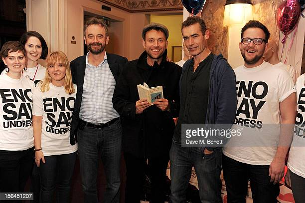 ENO artistic director John Berry Damon Albarn and director Rufus Norris attend the launch of 'ENO Undressed' ENO's new initiative to encourage more...