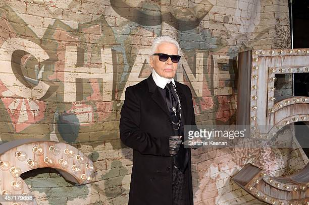 Artistic Director Karl Lagerfeld attends the CHANEL Dinner Celebrating N°5 THE FILM by Baz Luhrmann on October 13 2014 in New York City