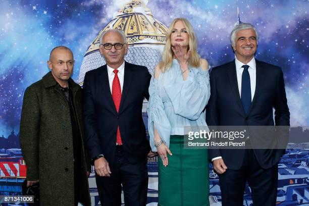 Artistic Director of 'Printemps' CEO of 'Printemps LSA' Paolo De Cesare actress Nicole Kidman and Deputy Chief Executive Officer of LVMH Antonio...