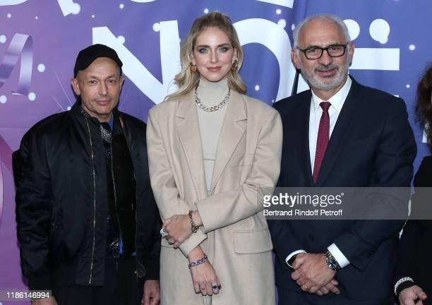 """Artistic Director of Printemps, Franck Banchet, Chiara Ferragni, for the House Pomellato, and CEO of 'Printemps - LSA' Paolo De Cesare attend """"Le..."""