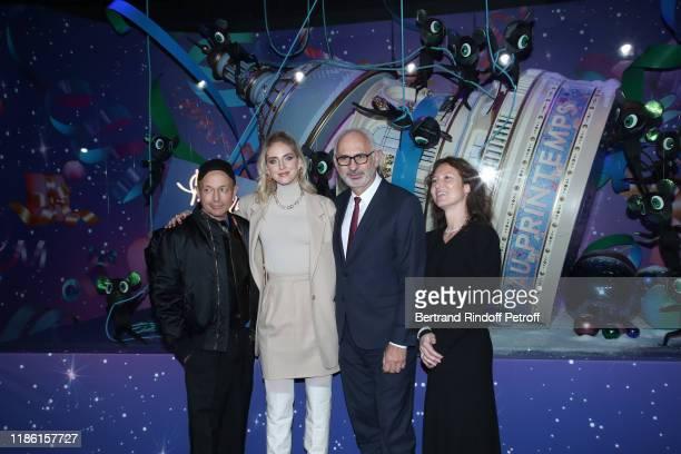 Artistic Director of Printemps, Franck Banchet, Chiara Ferragni, for the House Pomellato, CEO of 'Printemps - LSA' Paolo De Cesare and General...