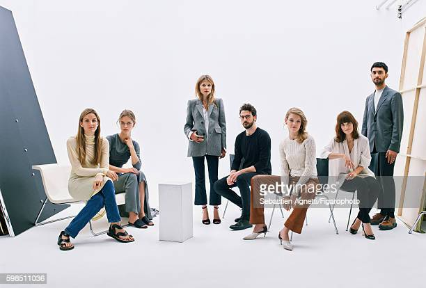 Artistic director of Repossi Gaia Repossi model Julia Jamin actress Clemence Poesy architect Ippolito Pestellini model Natalia Vodianova director of...