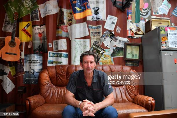 Artistic director of the company 'La Machine' Francois Delaroziere poses on June 20 2017 in the Machine workshop in the nave of 'Les Machines de...