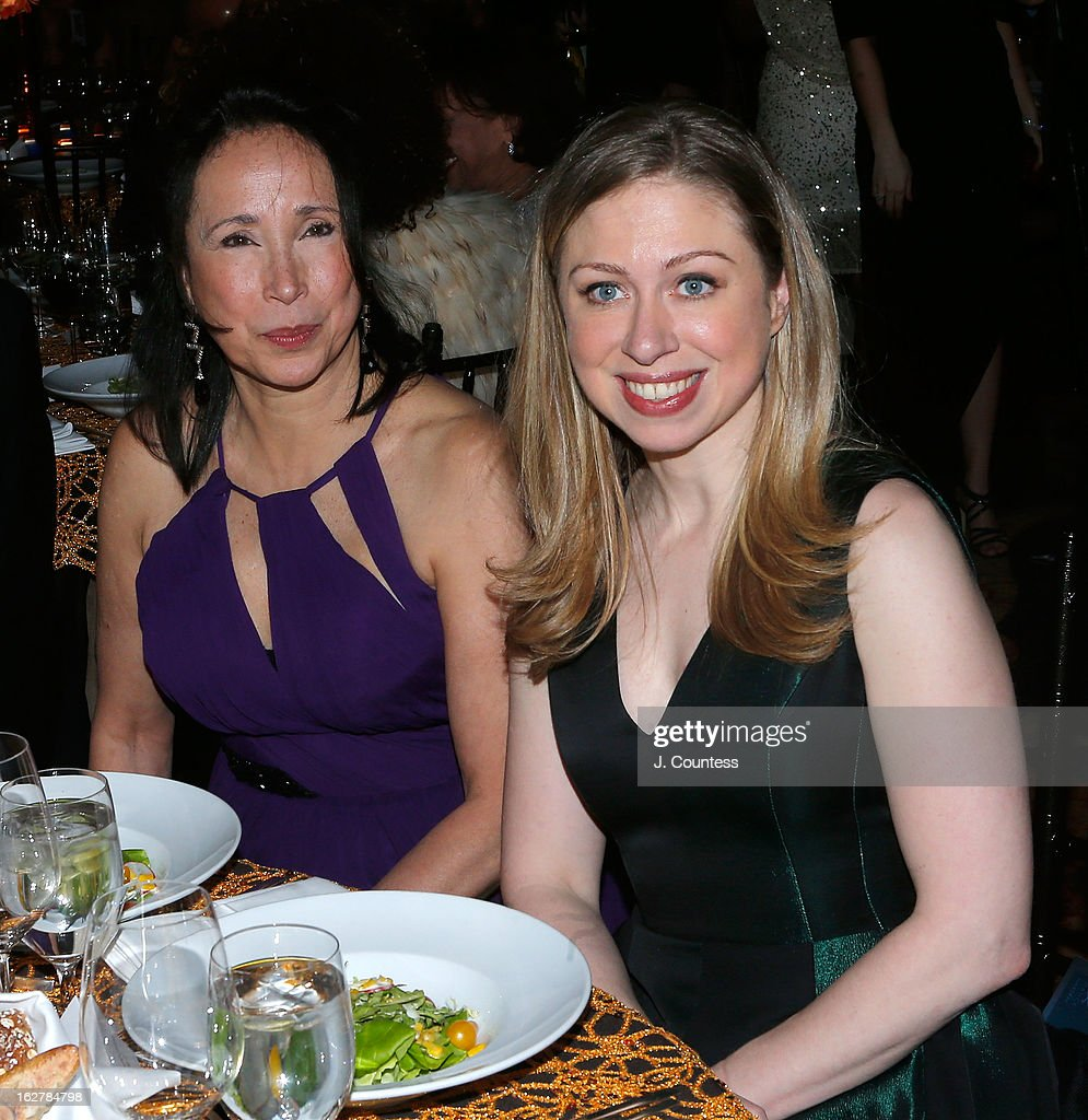 Artistic Director of the Dance Theatre of Harlem Virginia Johnson and Chelsea Clinton attend the Dance Theatre Of Harlem's 44th Anniversary Celebration at Mandarin Oriental Hotel on February 26, 2013 in New York City.