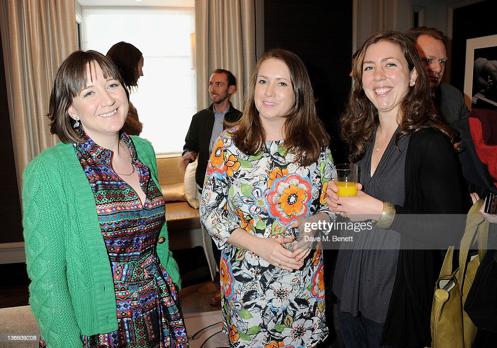 Artistic Director of The Donmar Warehouse Josie Rourke (L) and artist Emma Critchley attend the Corinthia Artist In Residence winners announcement at Corinthia Hotel London on January 13, 2012 in London, England.