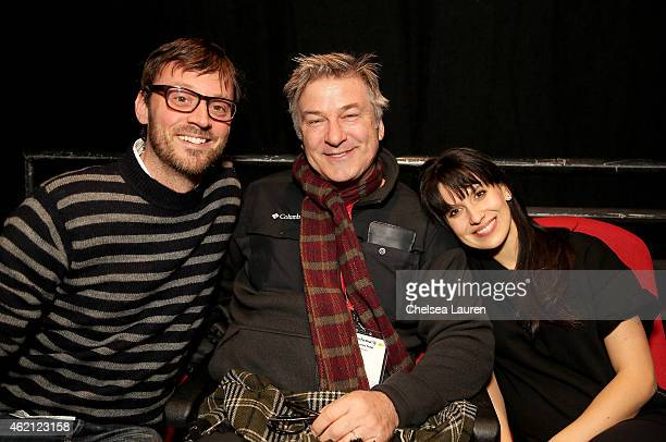 Artistic Director of the Hamptons International Film Festival David Nugent Alec Bladwin and Hilaria Baldwin attend the '3 1/2 Minutes' premiere...