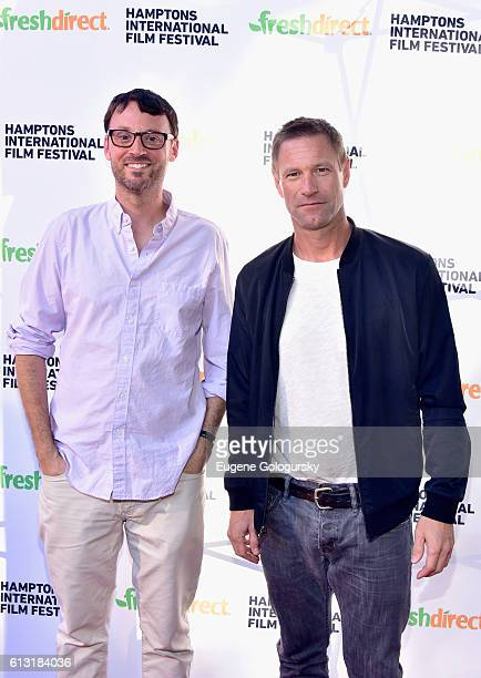 Artistic Director of the Hamptons International Film Festival David Nugent and Aaron Eckhart attend the Bleed for This Screening during The Hamptons...