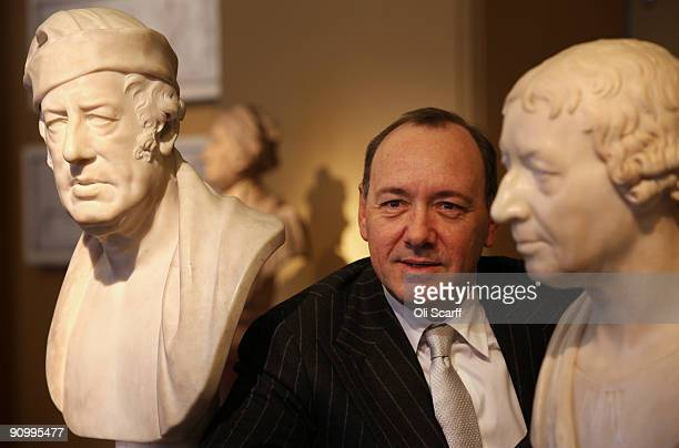 Artistic Director of the Old Vic Kevin Spacey poses for photographs in the Victoria and Albert Museum on September 21 2009 in London England Mayor of...