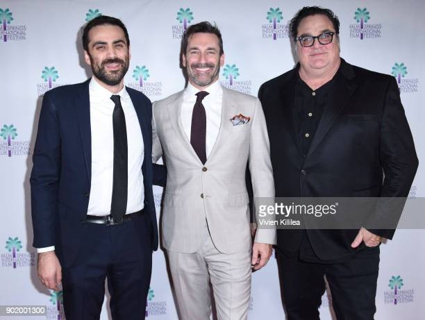 Artistic director of the Palm Springs International Film Festival Michael Lerman Jon Hamm and Mark Pellington attend the World Premiere of...