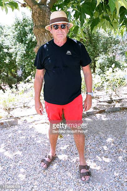 Artistic Director of the Ramatuelle Festival Michel Boujenah attends lunch at Jacqueline Franjou's house on August 4 2013 in Ramatuelle France
