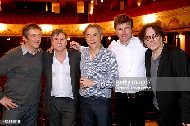 Artistic director of 'Theatre de Paris' Stephane Hillel actors of the drama Daniel Auteuil Richard Berry Coowner of the Theater Richard Caillat and...