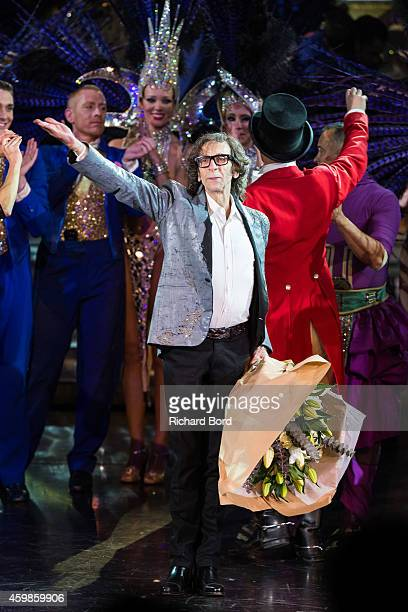 Artistic Director Pierre Rambert acknowledges the audience during the last show of the 'Bonheur' Revue at the Lido on December 2 2014 in Paris France