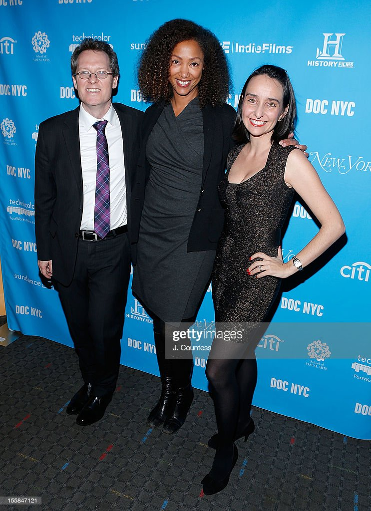Artistic Director Thom Powers, director Michelle Major and DOC NYC Executive Director Raphaela Neihausen attend the NYC Documentary Festival Opening Night Screening Of 'Artifact' at SVA Theater on November 8, 2012 in New York City.
