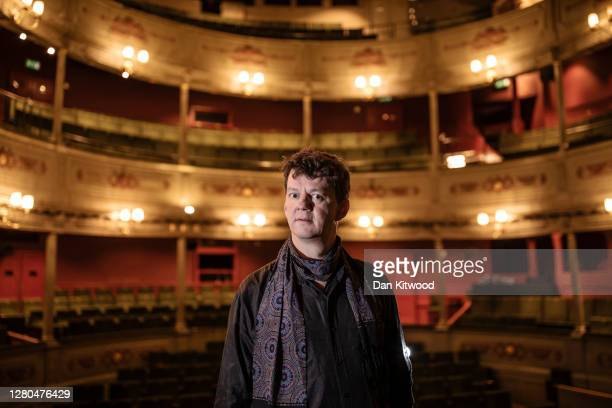 Artistic Director Tom Morris, poses for a portrait wearing a face mask at the Bristol Old Vic theatre on October 15, 2020 in Bristol, England. The...