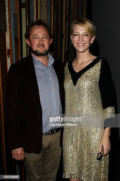 Artistic Directors Andrew Upton and Cate Blanchette attend the opening night of The Secret River at the Sydney Theatre Company on January 12 2013 in...