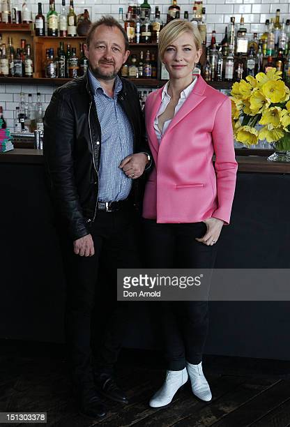 Artistic Directors Cate Blanchette and Andrew Upton pose at the Sydney Theatre Company 2013 Season Launch on September 6 2012 in Sydney Australia
