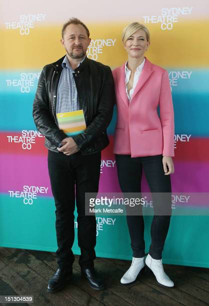 Artistic Directors Cate Blanchett and Andrew Upton pose at the Sydney Theatre Company 2013 Season Launch on September 6 2012 in Sydney Australia