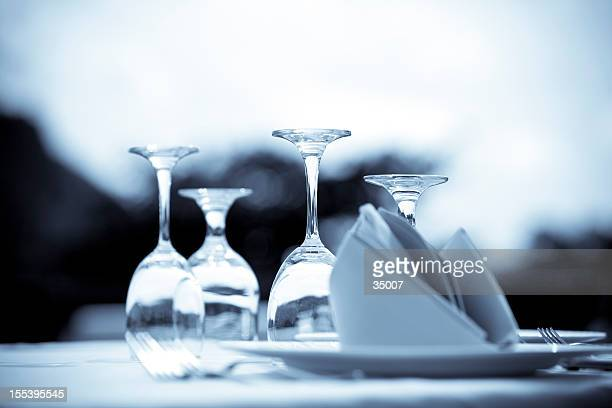 Artistic photograph of an elegant table setting