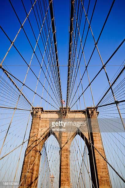Artistic picture of Brooklyn Bridge in New York City, USA