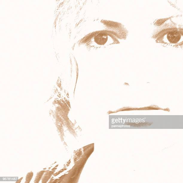 artistic portrait girl face - overexposed stock photos and pictures