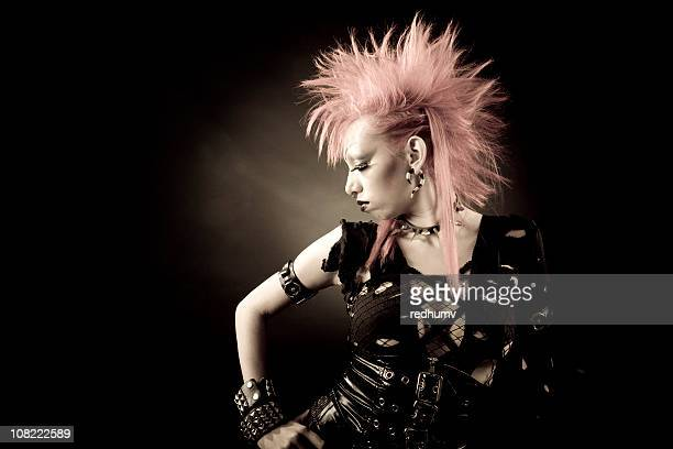 Künstlerische Punk Porträt