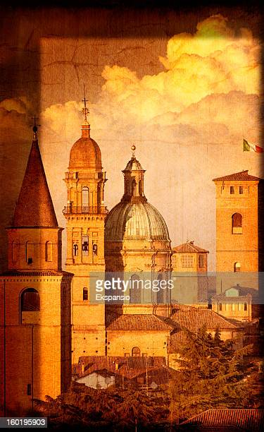 Artistic View of Italian Renaissance Churches and Towers