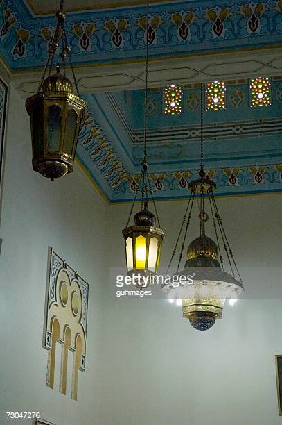 Artistic view of the ceiling inside the mosque