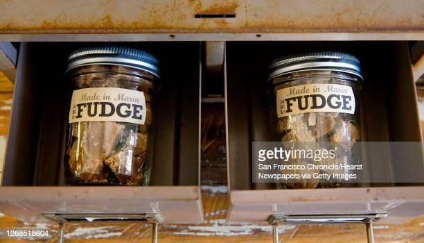 Artist/maker Liz Lavoie used her grandfather's fudge recipe to make her candies which are sold at The Shop in Olema California on Sat March 26 2016