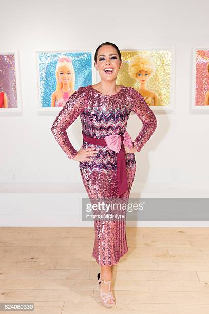 Artist/model Beau Dunn attends 'Beau Dunn's 'Plastic' opening at De Re Gallery on November 17 2016 in West Hollywood California