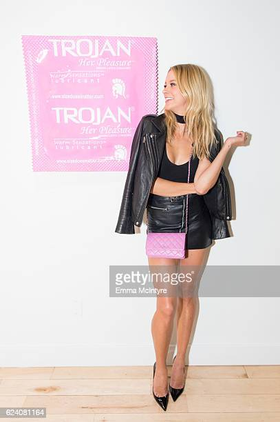 Artist/model Sabina Gadecki attends 'Beau Dunn's 'Plastic' opening at De Re Gallery on November 17 2016 in West Hollywood California