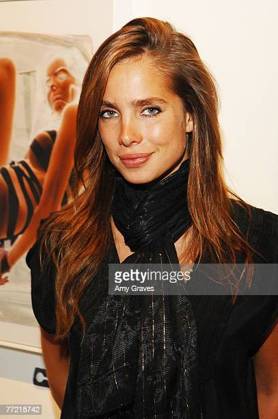 Artist/Model Sarai Givaty attends the Privacy Exhibit at The Red House Gallery on October 6 2007 in Venice California