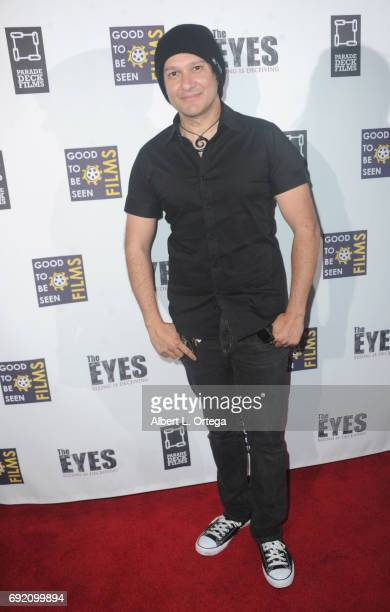 Artist/musician Neil D'Monte arrives for the Premiere Of Parade Deck Films' 'The Eyes' held at Arena Cinelounge on April 7 2017 in Hollywood...