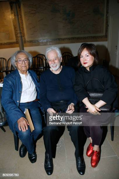 Artists Adonis Alejandro Jodorowsky and Pascale MontandonJodorowsky attend the Azzedine Alaia Fashion Show as part of Haute Couture Paris Fashion...
