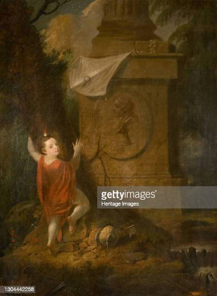 Artist's Advertisement - Cherub with Kite at Monument [undated]. Artist James Millar.