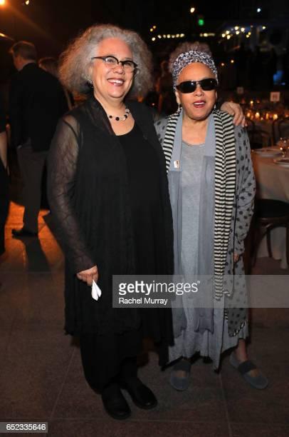 Artists Alison Saar and Betye Saar attend MOCA's Leadership Circle and Members' Opening of Kerry James Marshall Mastry at MOCA Grand Avenue on March...