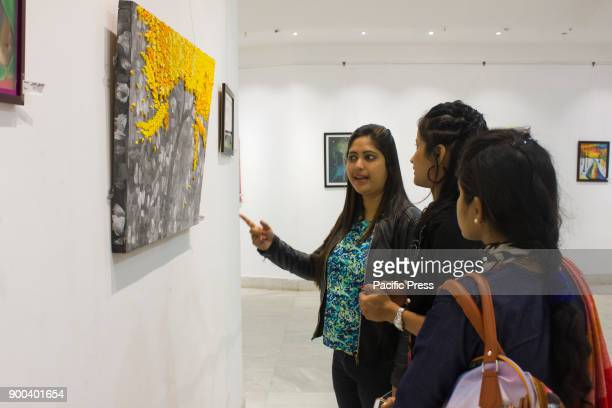 KALAKHETRA GUWAHATI ASSAM INDIA Artists and hobbyists exhibit their work and show off their creative talent during the Creative Hobby Fest