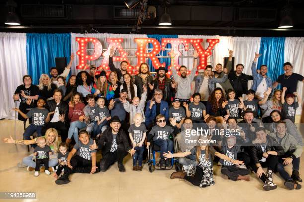Artists and patients pose for a photograph Country Cares for St Jude Kids Seminar at The Peabody on January 17 2020 in Memphis Tennessee