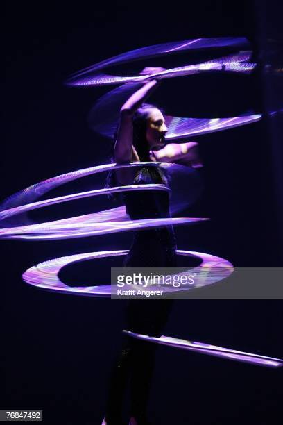Artists and singers of the Cirque Du Soleil present their new show Delirium at the Color Line Arena on September 18 2007 in Hamburg Germany The tour...