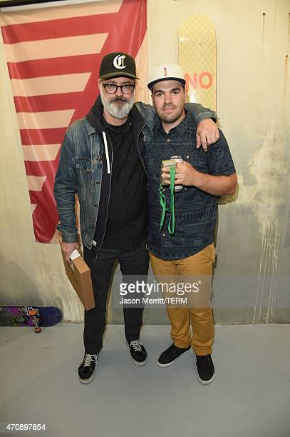 Artists Andy Jenkins and Nick Zeger attend Oakley In Residence Los Angeles community space grand opening celebrating creativity in skate on April 23...