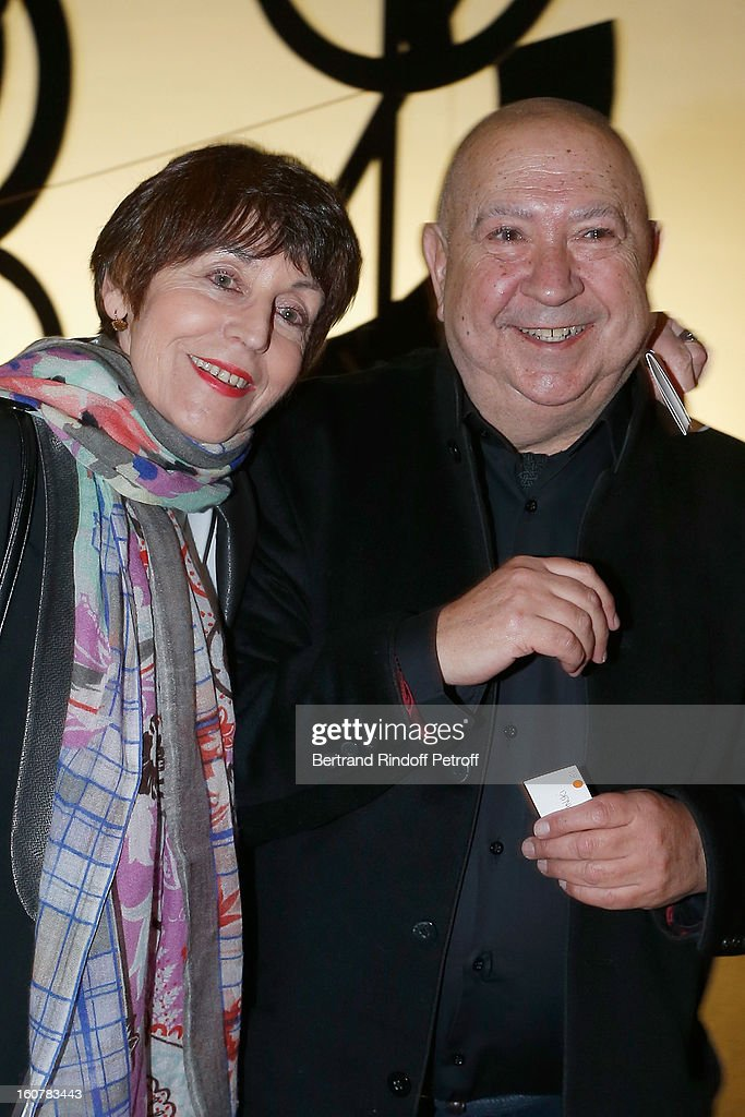 Artists Annette Messager (L) and Christian Boltanski attend the 8th Annual Dinner of the 'Societe Des Amis Du Musee D'Art Moderne' at Centre Pompidou on February 5, 2013 in Paris, France.