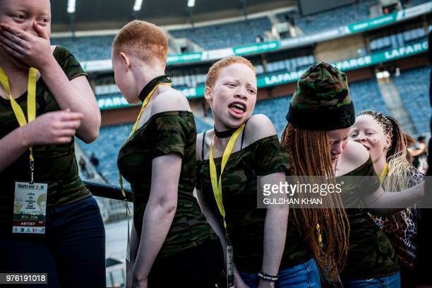 """Artists """"Bob 90 and the Binos"""" wait backstage to perform at the 2018 National Youth Day Commemoration under the theme, 'Live the legacy: Towards a..."""