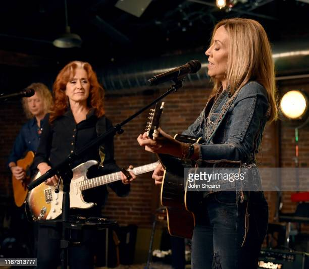 Artists Bonnie Raitt and Sheryl Crow perform onstage during a special event hosted by Spotify and AmericanaFest at Cannery Ballroom on September 10...