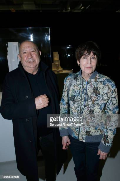 Artists Christian Boltanski and his wife Annette Messager attend the 'Chagall Lissitzky Malevitch L'Avantgarde Russe a Vitebsk 19181922' Press...